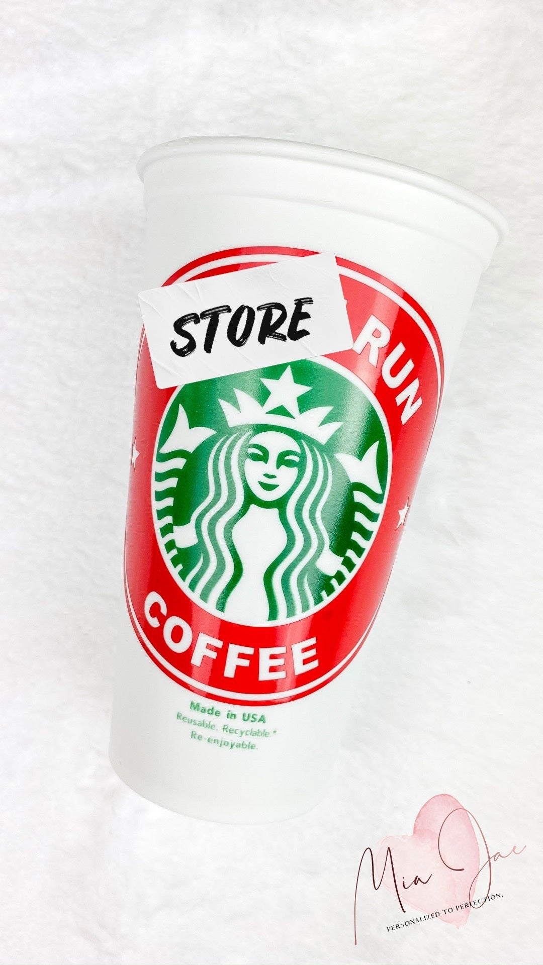Store Run Coffee Personalized Hot Cup