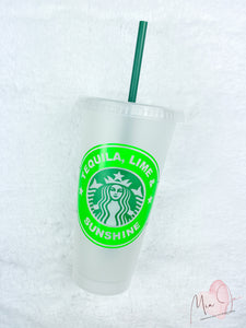 Tequila, Lime and Sunshine Personalized Cold Cup