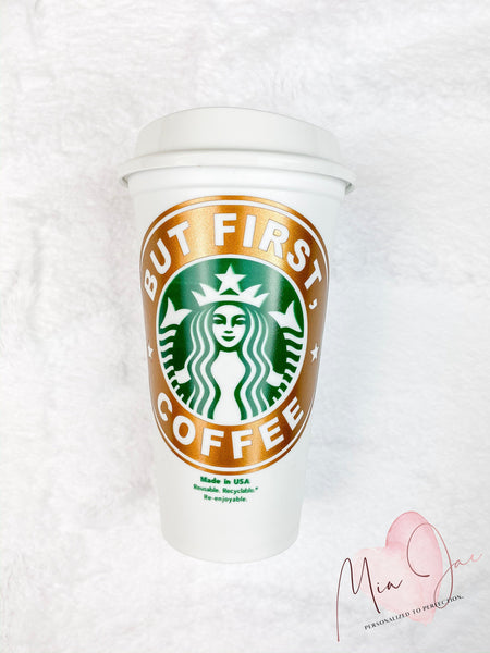 But First, Coffee Personalized Hot Cup