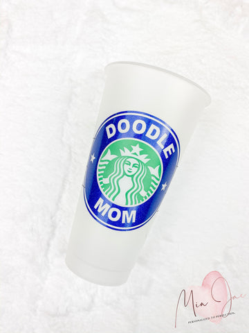 Doodle Mom Personalized Cold Cup