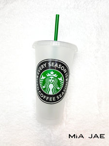 Every Season Is Iced Coffee Season Personalized Cold Cup