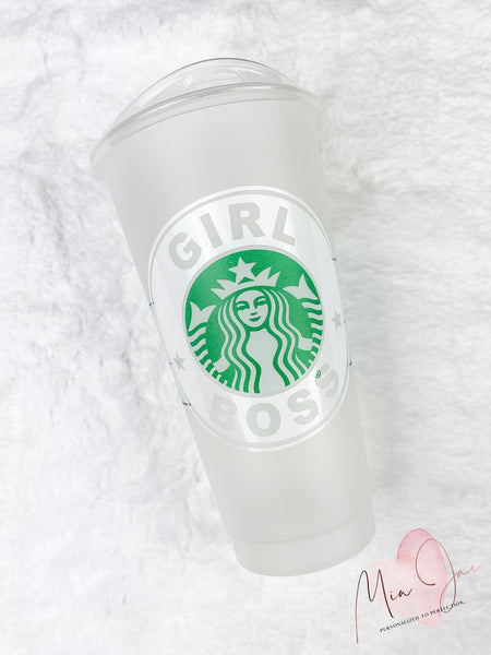 Girl Boss Personalized Cold Cup