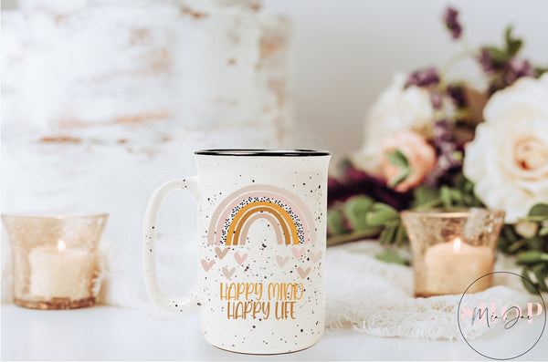 Happy Mind Happy Life Mug