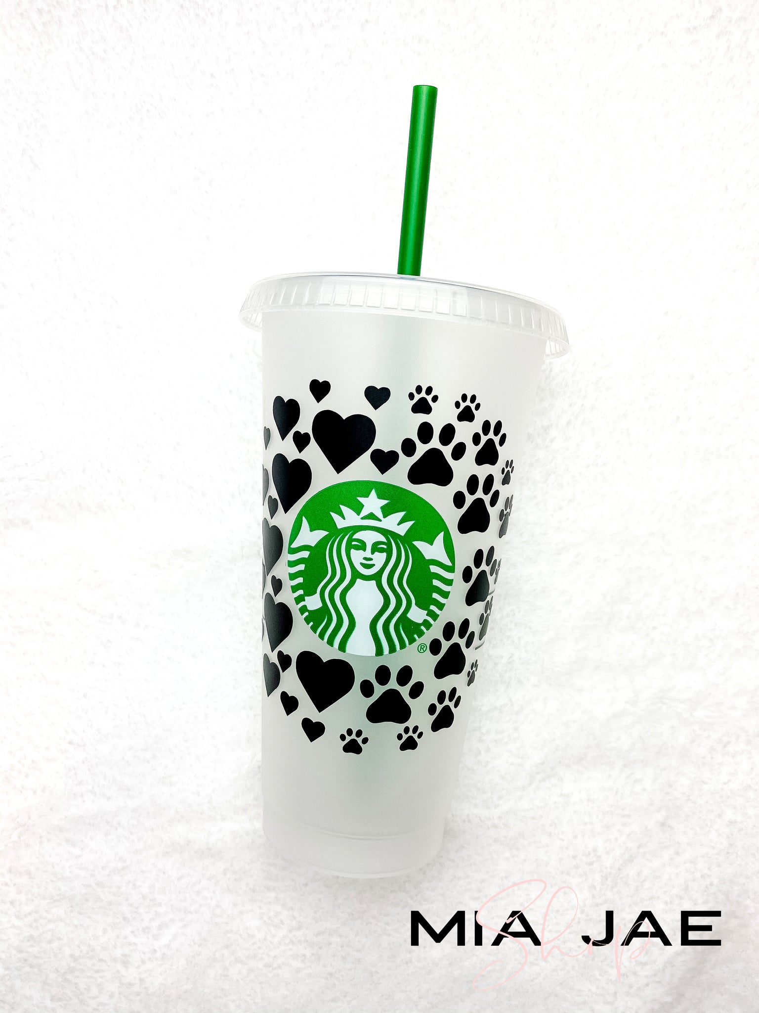 Hearts and Paws Personalized Cold Cup