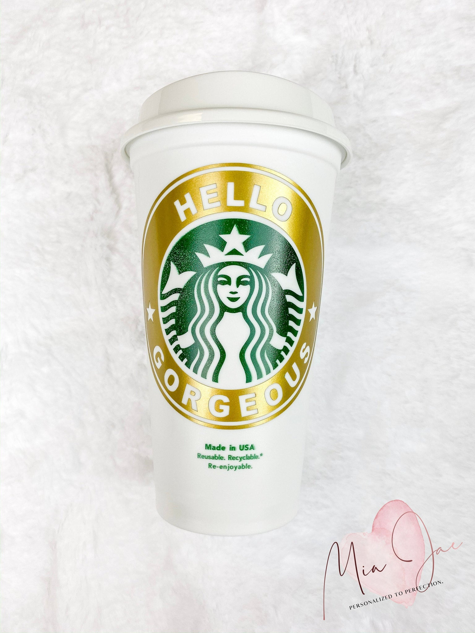 Hello Gorgeous Personalized Hot Cup