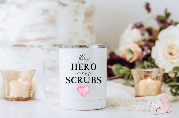 This Hero Wears Scrubs Mug
