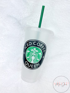 Iced Coffee Queen Personalized Cold Cup