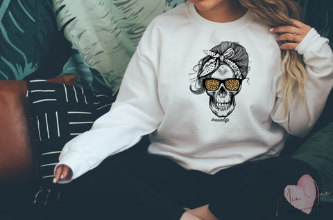 Mom Life Skull sweatshirt