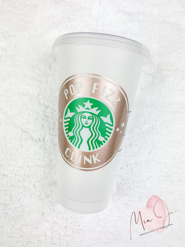 Pop, Fizz, Clink Celebration Personalized Cold Cup
