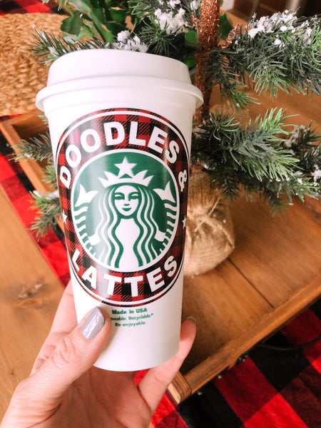 Doodles and Lattes Personalized Hot Cup