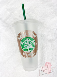 Realtor Fuel Personalized Cold Cup