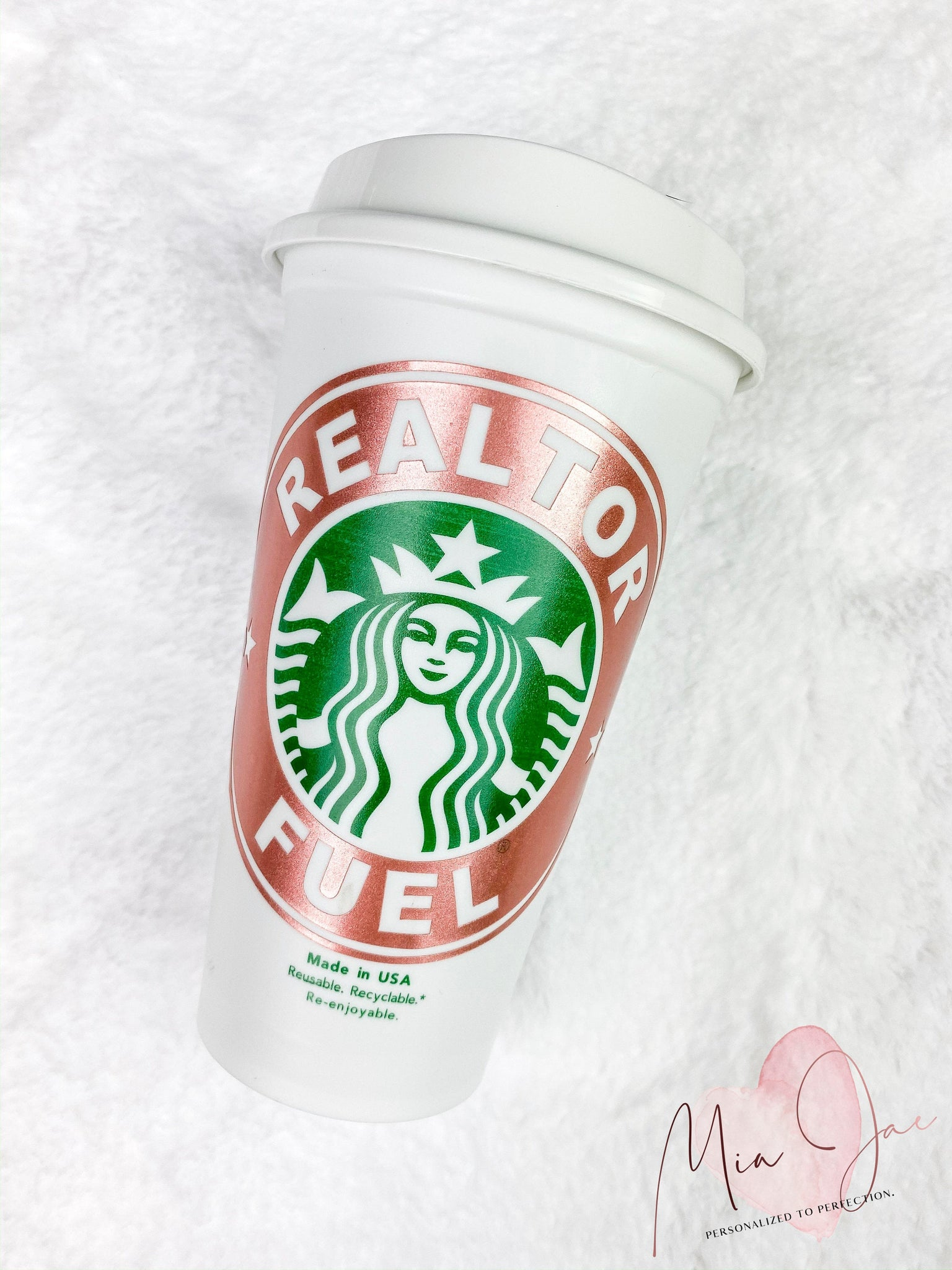 Realtor Fuel Personalized Hot Cup