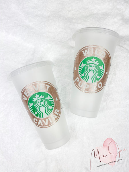 Shop Name Personalized Cold Cup