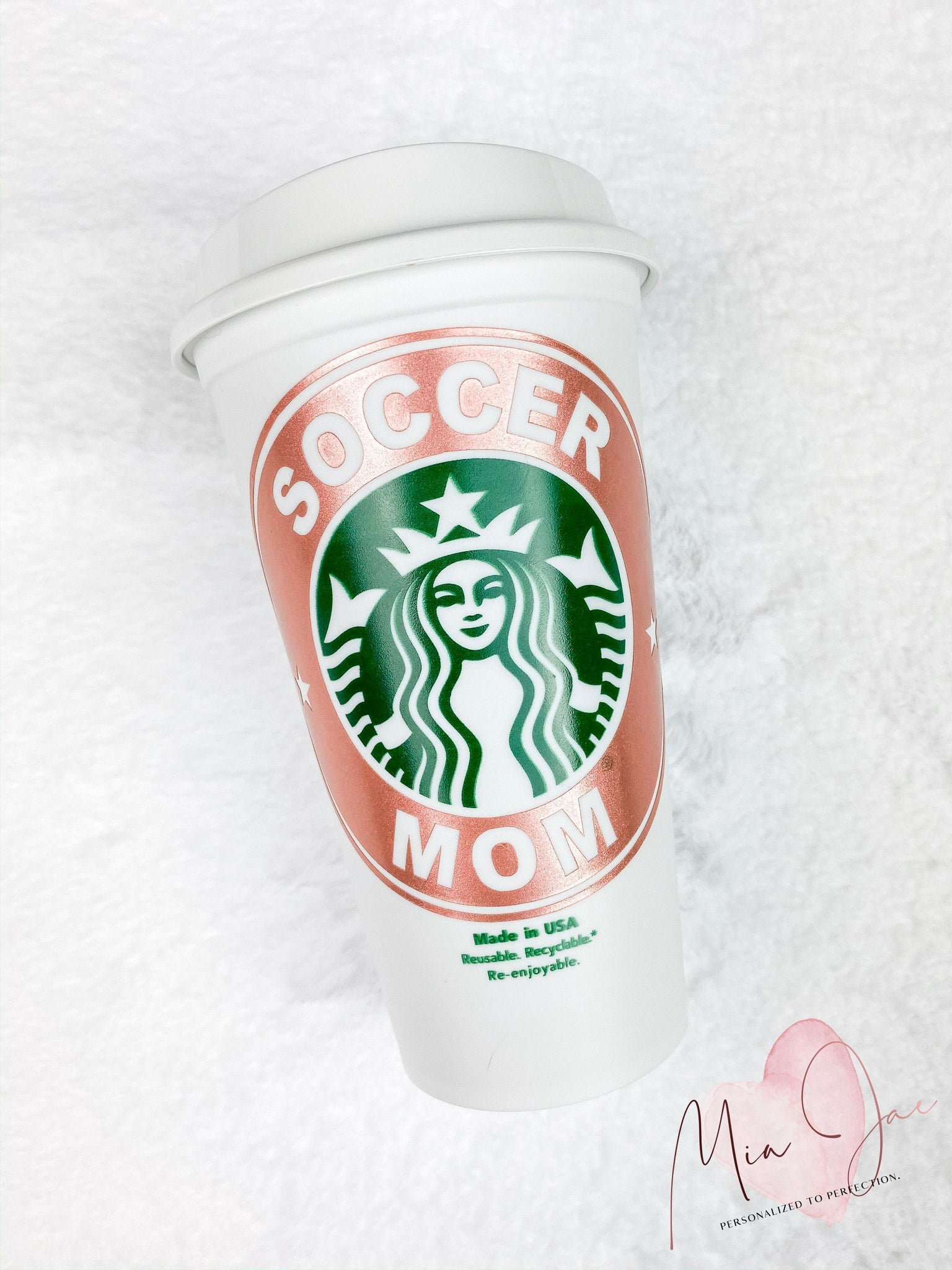 Soccer Mom Personalized Hot Cup