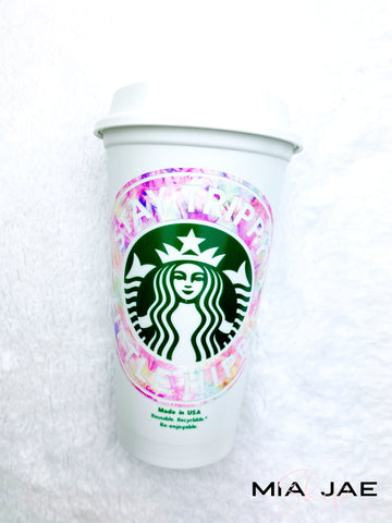 Trippy Hippie Personalized Hot Cup