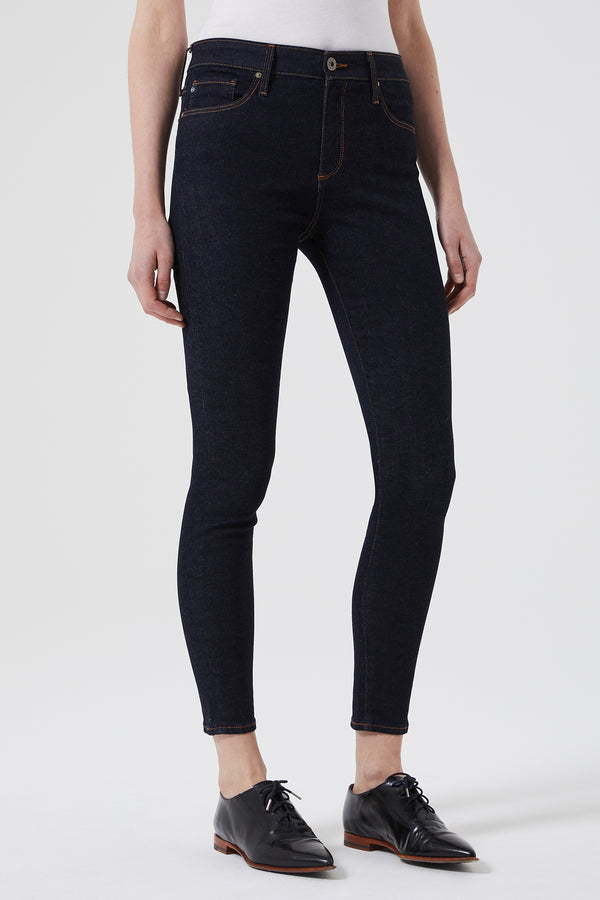 The Farrah Skinny Ankle Jean in Admiral Blue