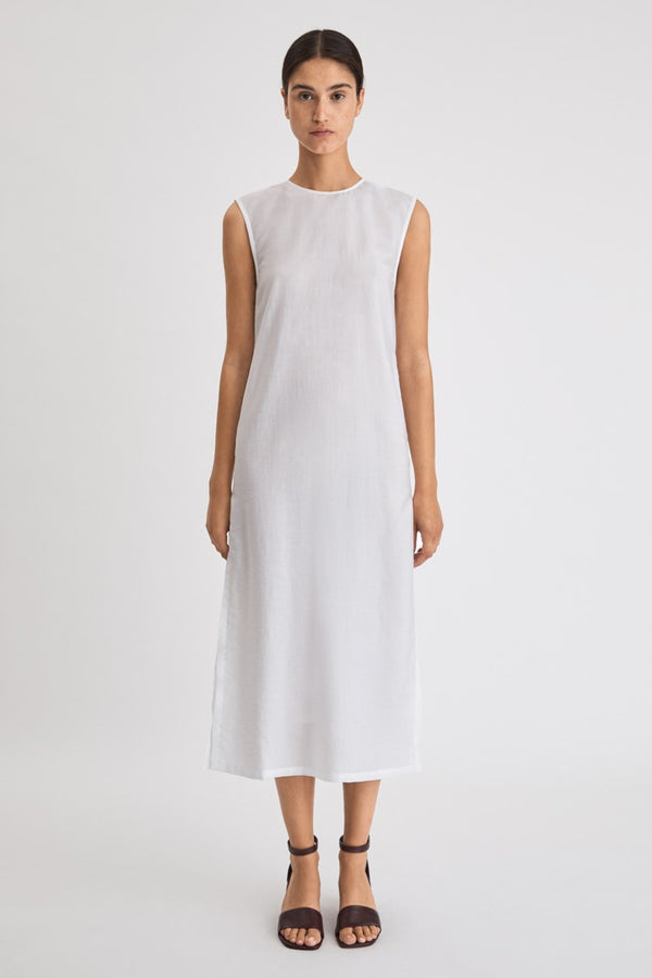 Abby Dress in Coconut White
