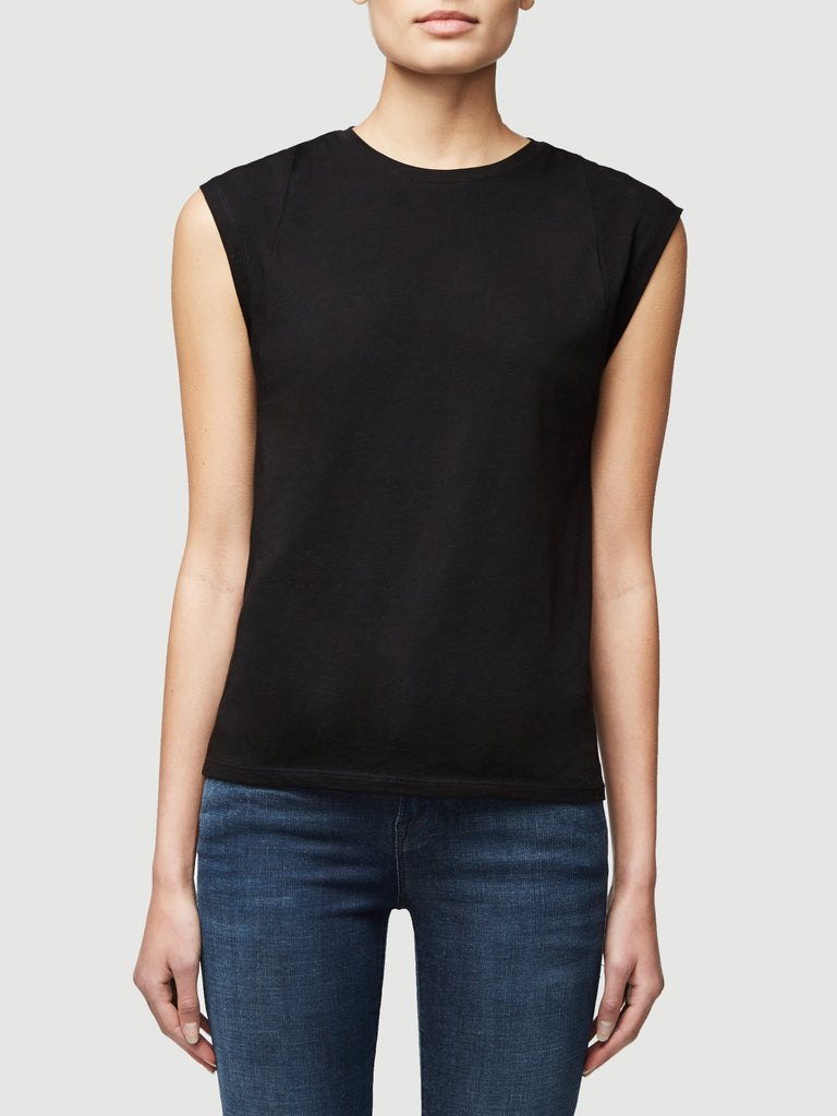 Le Mid Rise Muscle Tee in Black