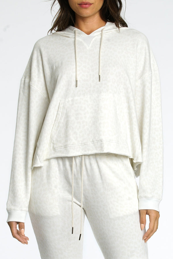 Maxime Hooded Sweatshirt in Wild Cat
