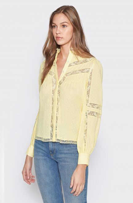 Nazly Cotton Top in Banana