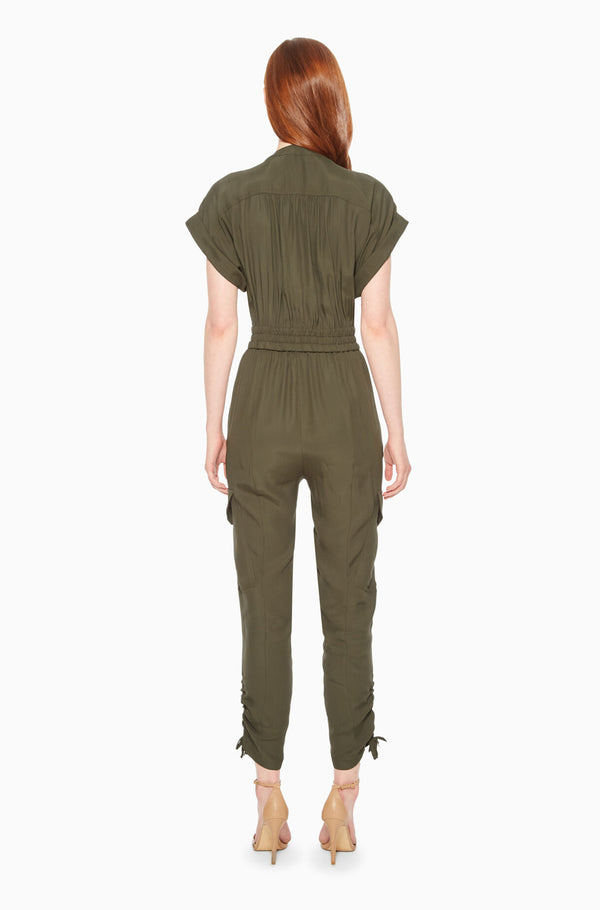 Cayman Jumpsuit in Moss