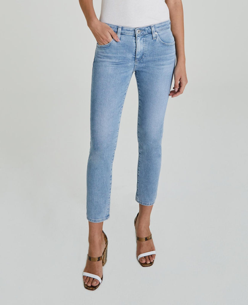 Prima Mid Rise Cropped Cigarette Leg Jean - 26 Years Skylight