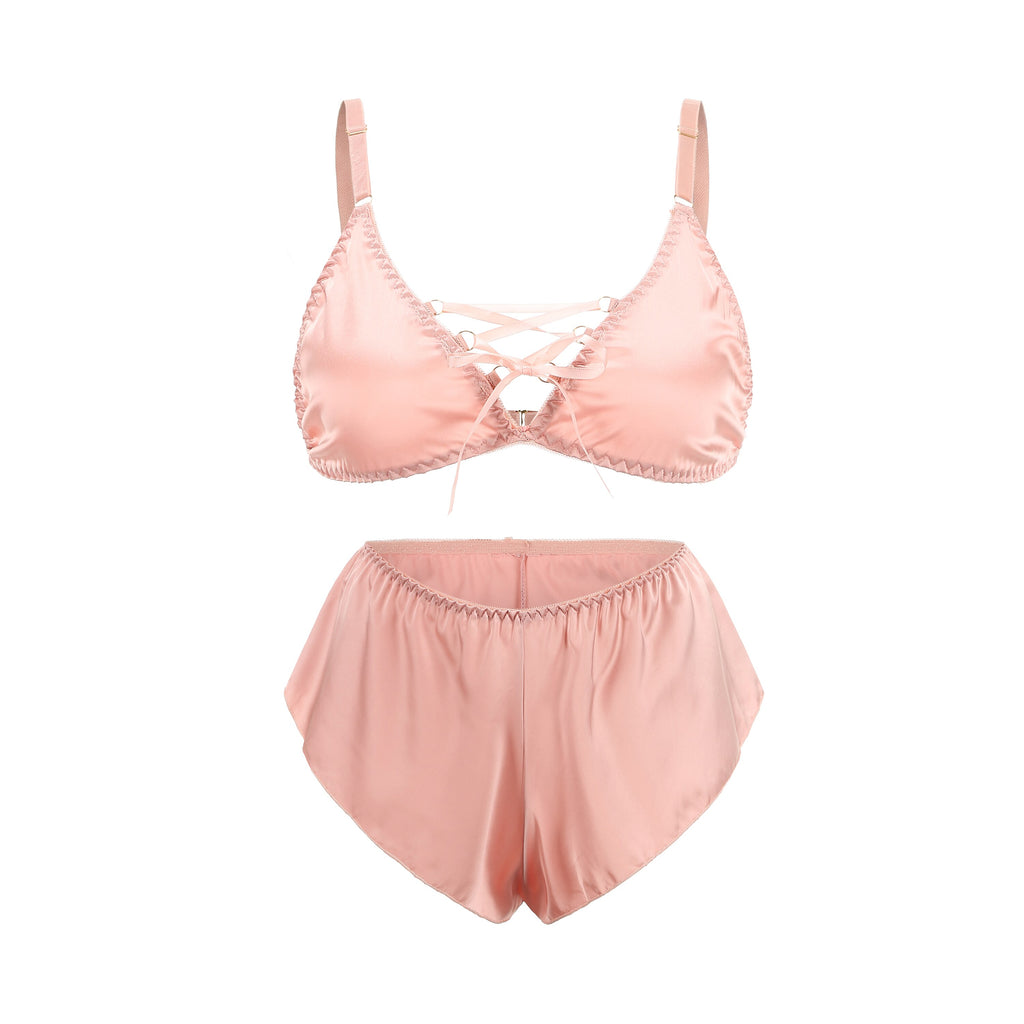 Sweet Mary Silk Pink Set - Miscusi lingerie.