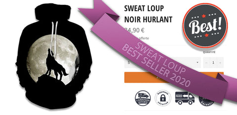 sweat loup hurlant lune