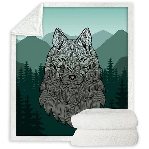 Plaid Loup Celtique