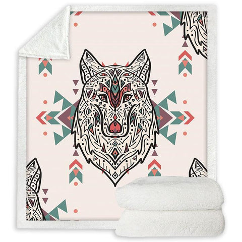 Plaid Loup Mandala