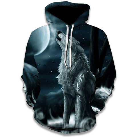 Sweat Dessin Loup