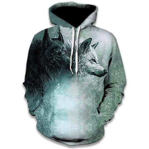 Sweat Imprimé Loup