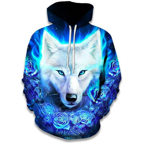 Sweat Loup Blanc