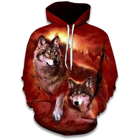 Sweat Loup Rouge