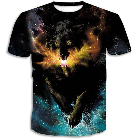 T-Shirt Loup Dragon