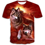 T-Shirt Loup Rouge