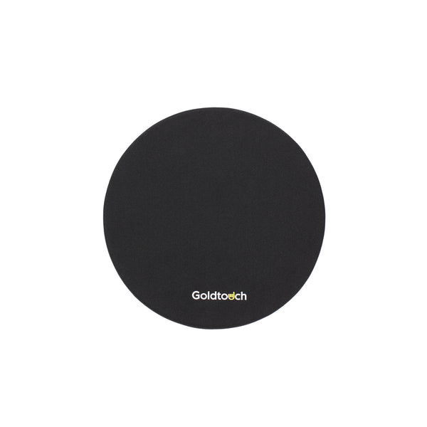 Goldtouch Black Gel Filled Round Mouse Pad - EasyLift Desk Accessory