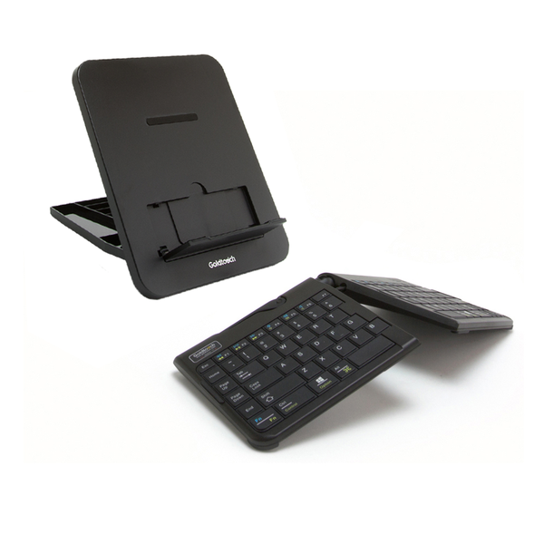 Goldtouch Go!2 Bluetooth Wireless Mobile Keyboard and Composite Resin Laptop Stand ErgoSuite Bundle