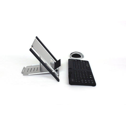 ergonomic mouse and keyboard along with tablet stand