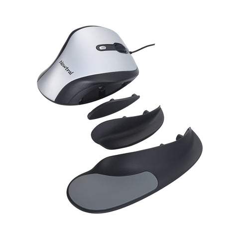 Silver/Black Newtral 2 Mouse | Wired USB | Large