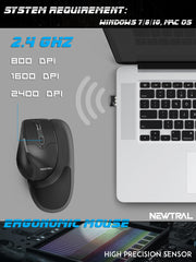 Black Newtral 3 Mouse | Wireless | Large