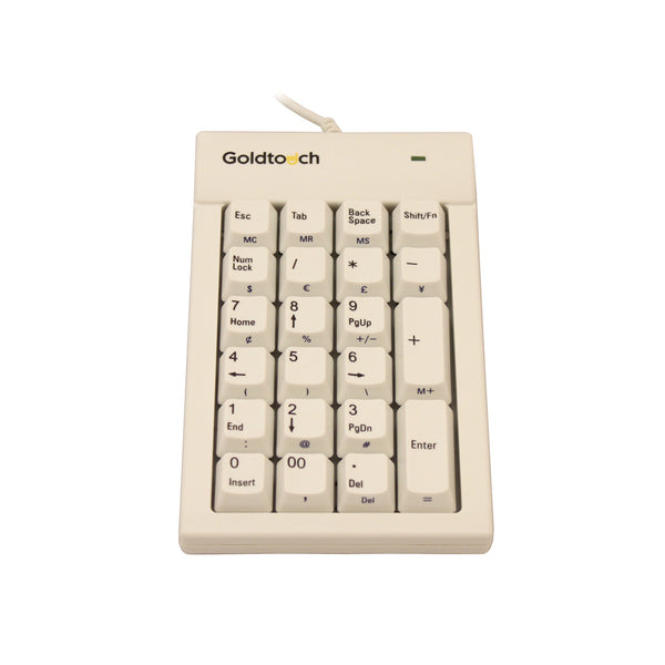 Goldtouch PC USB Numeric Keypad | White