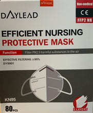Load image into Gallery viewer, DAYLEAD FFP2/KN95 Efficient Nursing Protective Mask (80 Masks)
