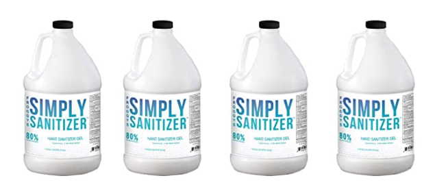 FROGGYS SIMPLY SANITIZER™ Hand Sanitizer 1 Gallon (4 Count w/ Pumps)