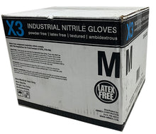 Load image into Gallery viewer, Blue Nitrile Disposable Gloves (1000 Gloves)