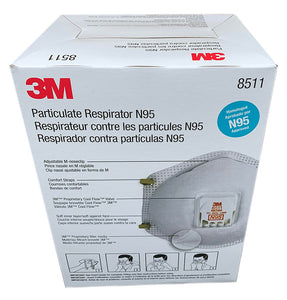 3M™ 8511 N95 NIOSH Masks (80 Masks)