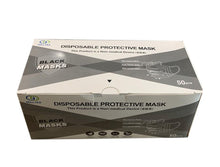 Load image into Gallery viewer, Black Disposable 3-PLY Face Mask (50 Masks) - DMB Supply