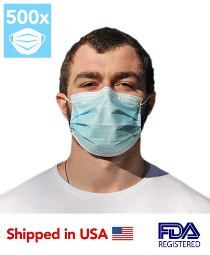 Disposable 3-PLY Face Mask (500 Masks) - DMB Supply