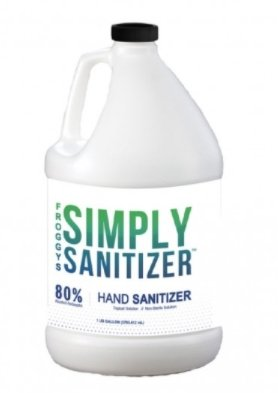 FROGGYS SIMPLY SANITIZER™ Hand Sanitizer 1 Gallon w/ Pump - DMB Supply