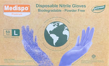 Load image into Gallery viewer, Medispo® Disposable Large Nitrile Gloves (50 Gloves) - DMB Supply
